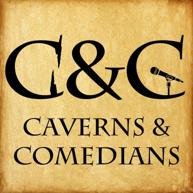 Caverns and Comedians Podcast Logo, Toronto